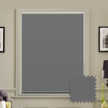 "Made to Measure Blackout 5"" Unishade Charcoal Vertical Blind"